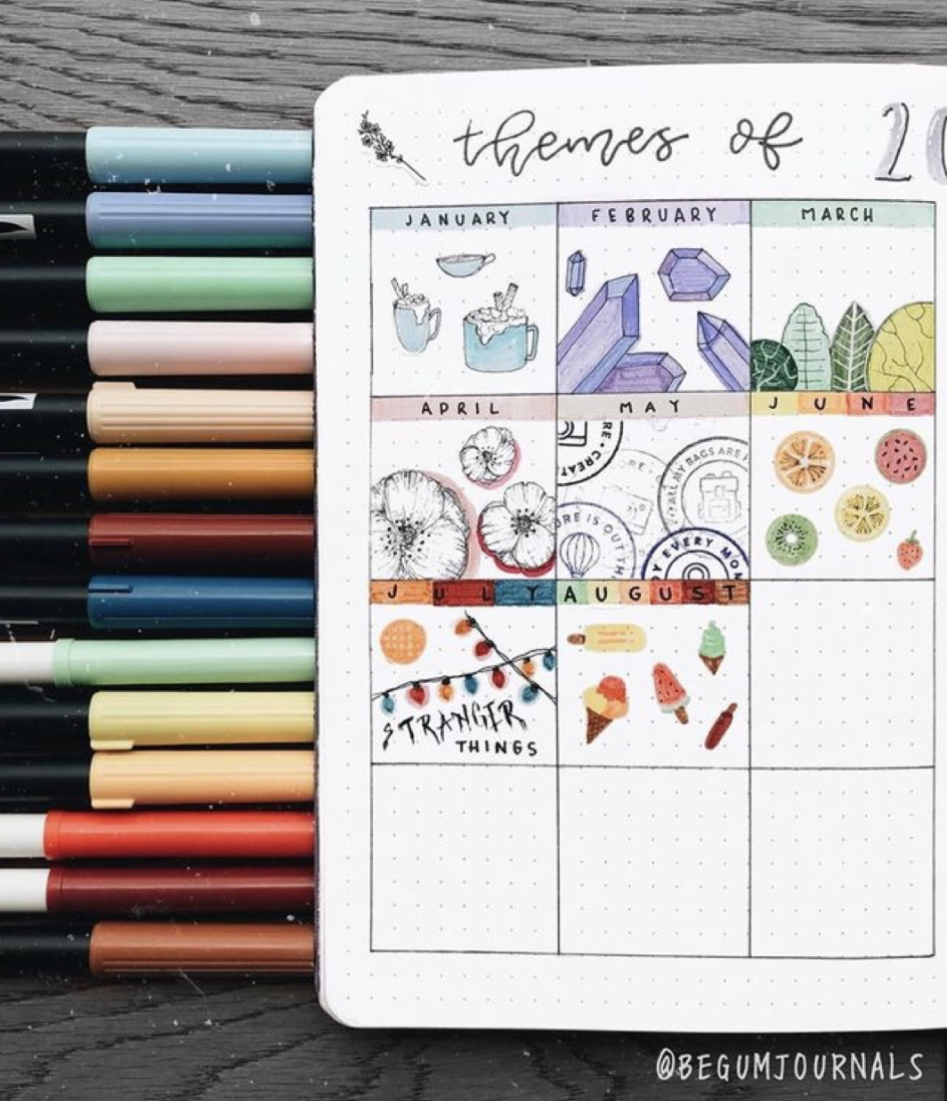 pens are my favorite bullet journal supplies